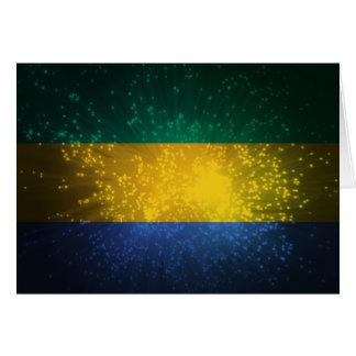 Gabon Flag Firework Note Card