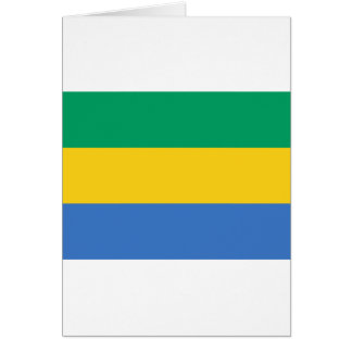 Gabon Flag GA Gabonese Republic Card
