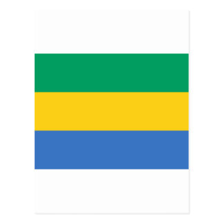Gabon Flag GA Gabonese Republic Postcard