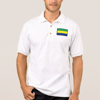 Gabon flag golf polo