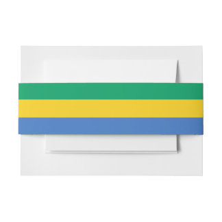 Gabon Flag Invitation Belly Band
