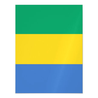 Gabon Flag Magnetic Card