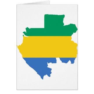 Gabon Flag Map GA Card