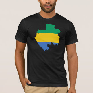 Gabon Flag Map GA T-Shirt