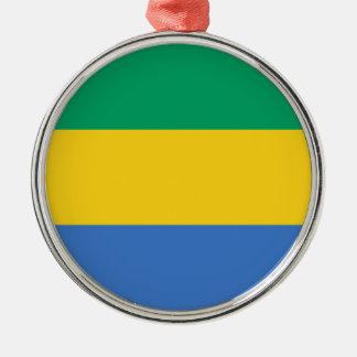 Gabon Flag Metal Ornament