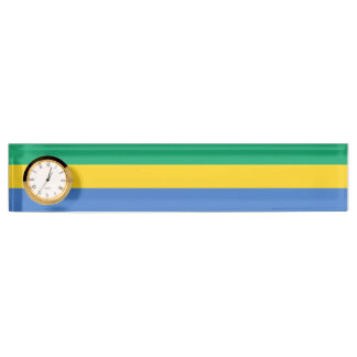 Gabon Flag Name Plates