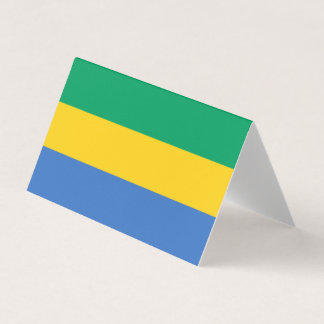 Gabon Flag Place Card