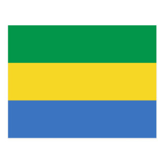 Gabon Flag Postcard