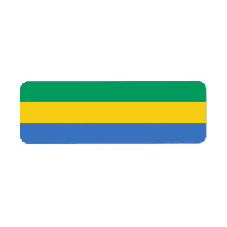 Gabon Flag Return Address Label