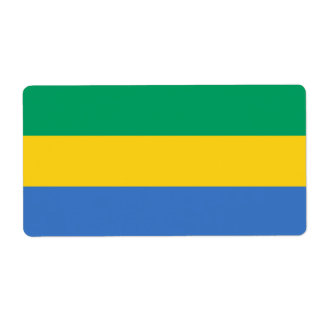 Gabon Flag Shipping Label