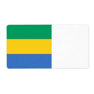 Gabon Flag Shipping Label