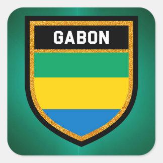 Gabon Flag Square Sticker