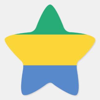 Gabon Flag Star Sticker
