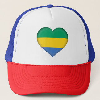 Gabon Flag Trucker Hat
