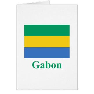 Gabon Flag with Name Card