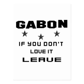 Gabon If you don't love it, Leave Postcard