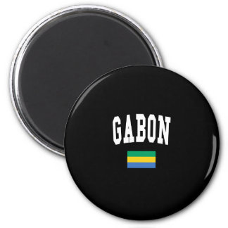 GABON 6 CM ROUND MAGNET