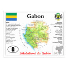 Gabon Map Postcard