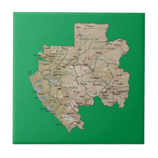 Gabon Map Tile