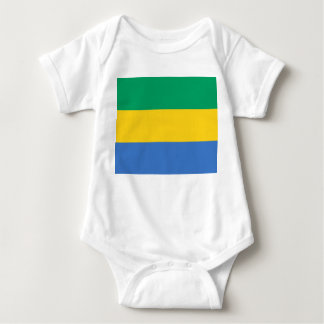 Gabon National World Flag Baby Bodysuit
