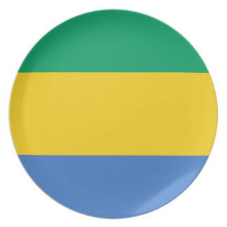 Gabon National World Flag Plate