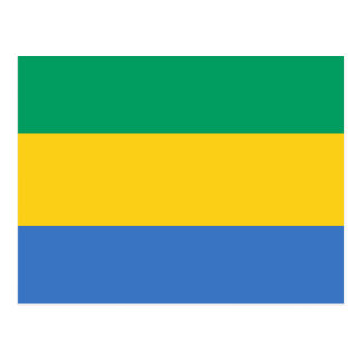 Gabon National World Flag Postcard