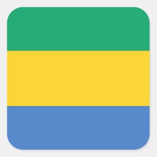 Gabon National World Flag Square Sticker