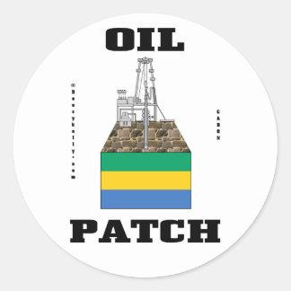 Gabon Oil Field Sticker,Rabi,Kounga,Oil,Gas,Rig Classic Round Sticker