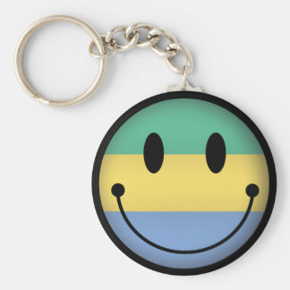 Gabon Smiley Key Ring