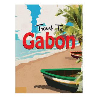 Gabon vintage travel poster postcard