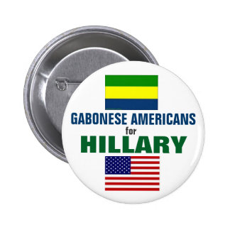 Gabonese Americans for Hillary 2016 6 Cm Round Badge