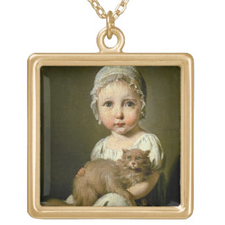 Gabrielle Arnault (1811-72) 1813 (oil on canvas) Gold Plated Necklace