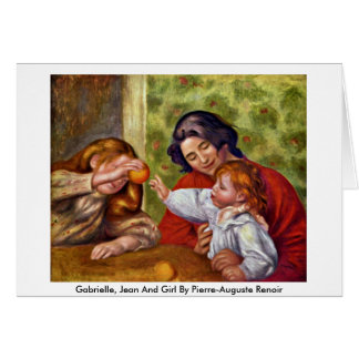 Gabrielle, Jean And Girl By Pierre-Auguste Renoir Card