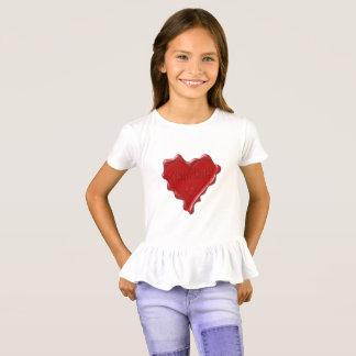 Gabrielle. Red heart wax seal with name Gabrielle. T-Shirt