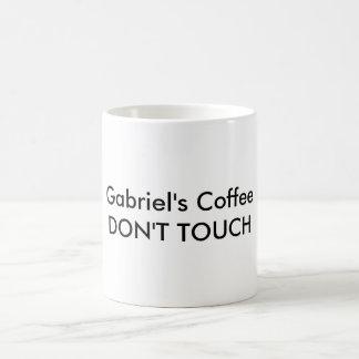 Gabriel's Coffee Don't Touch Coffee Mug