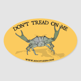 Gadsden Crab Oval Sticker
