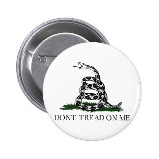 "Gadsden Flag ""Don't Tread On Me"" 6 Cm Round Badge"