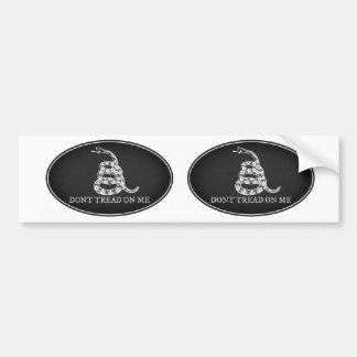 Gadsden Flag Oval Bumper Sticker in Black