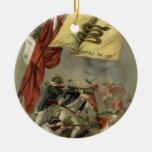 Gadsden Flag Revolutionary War Bunker Hill Christmas Tree Ornament