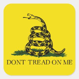 Gadsden Flag Square Sticker
