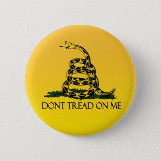 Gadsden Flag, Yellow Background 6 Cm Round Badge