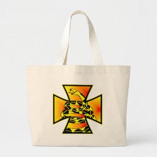 Gadsden Snake In Iron Cross Canvas Bags