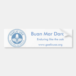 GaelicUSA Bumpersticker Bumper Sticker