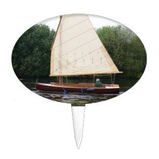 Gaff Rigged Sailing Boat Cake Pick