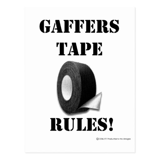 Gaffers Tape Rules Postcards