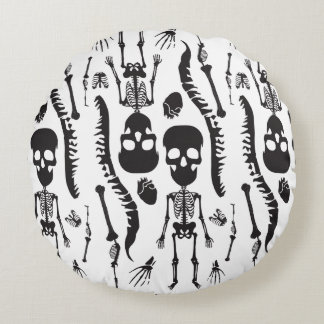 GaG Skull Head Throw Pillow - Round Round Cushion