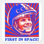 Gagarin Юрий Гагарин Square Sticker