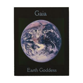 Gaia Earth Goddess Wood Canvases