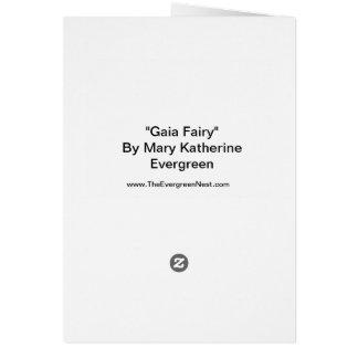 Gaia Fairy Fine Art Greeting Card