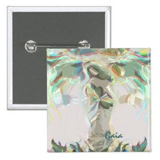 Gaia Mother Earth Button Pin